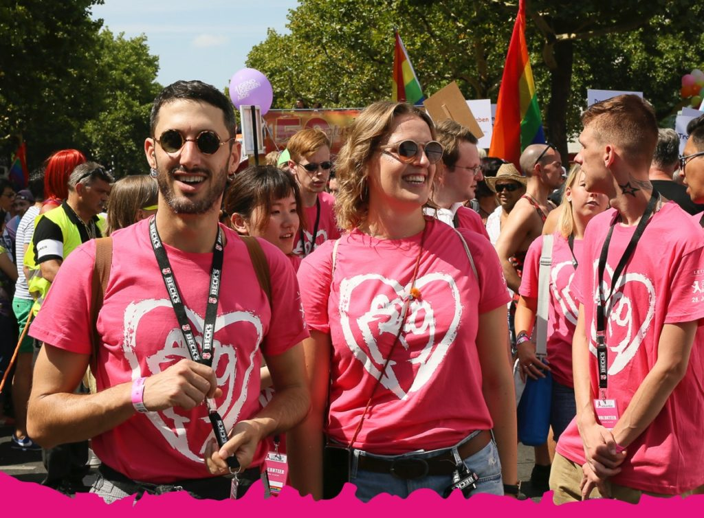 Ansicht Volunteers CSD Berlin 2018