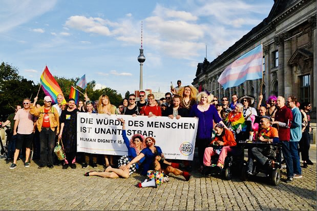 Tuntenspaziergang in Berlin-Mitte am 5. Juni 2021